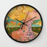 blondie Wall Clocks featuring Blondie by Bailey Saliwanchik