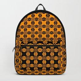 African Ethnic Pattern Black and Orange Backpack