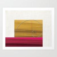 fibonacci Art Prints featuring Fibonacci Art by Lucky Skye