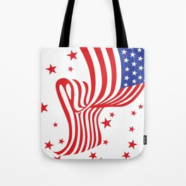 AMERICAN FLAG  & RED STARS JULY 4TH ART Tote Bag