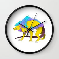 persona Wall Clocks featuring Persona - Orthrus by matcha-tiger