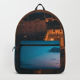 Castle of São Jorge, Lisbon, Portugal. Backpack