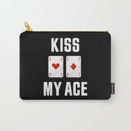 Kiss my Ace | Funny Poker Gambling Gift Carry-All Pouch