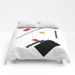 Geometric Abstract Malevic #7 Comforters