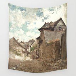 Nicolae Grigorescu - Street in Vitre Wall Tapestry