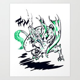 Calligraphy Dragon Art Print