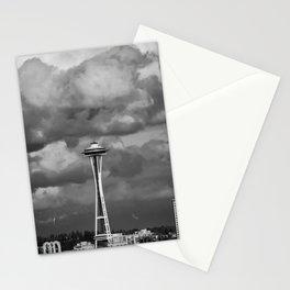 Seattle Skyline - B & W Stationery Cards