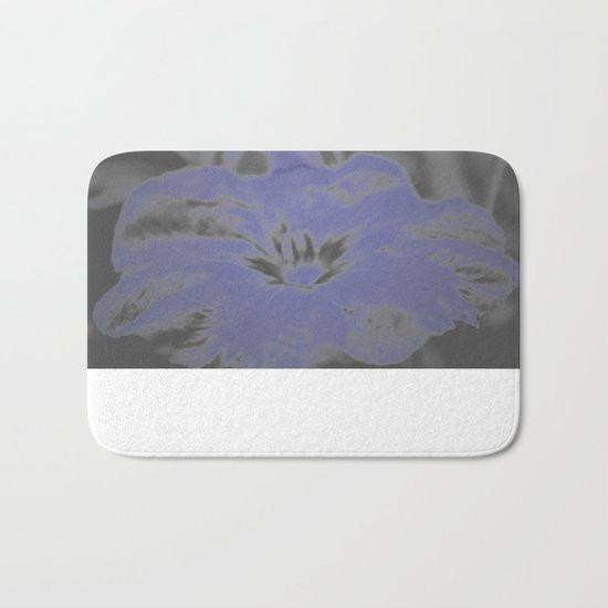 Bloom in Neon Blue Bath Mat
