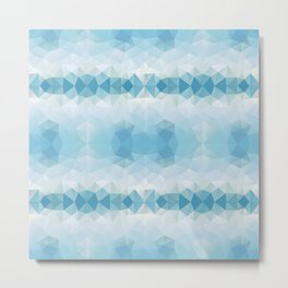 Triangles design in soft blue colors Metal Print