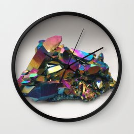Titanium Rainbow Aura Quartz 1 Wall Clock