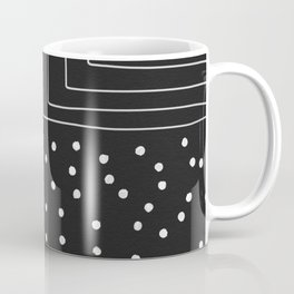 Black Pottery Coffee Mug