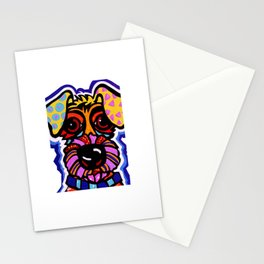 Rover Terrier Dog Airedale Wheaton Lakeland Kerry Schnauzer Fox Puppy Pet Animal Stationery Cards
