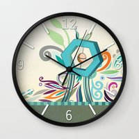 polygon Wall Clocks featuring Polygon monument by /CAM