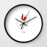 socks Wall Clocks featuring Socks by Tom Kitchen