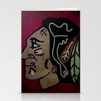 blackhawks Stationery Cards featuring Blackhawks by Jide