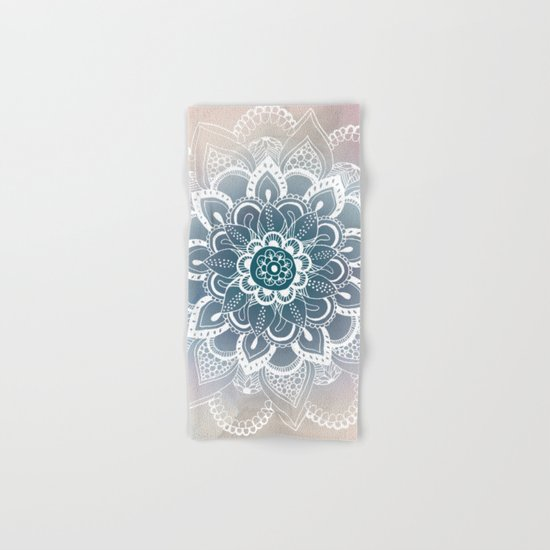 Winter Fountain Mandala Hand & Bath Towel