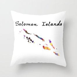 Solomon Islands Quote Art Design Inspirational Mo Throw Pillow