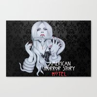 ahs Canvas Prints featuring AHS: Hotel  by Diego Guzman