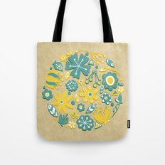 Little Flower Circle Tote Bag