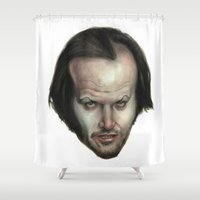 jack Shower Curtains featuring Jack  by The Art of Plinio Pinto