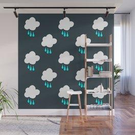 Rain Cloud Pattern Wall Mural
