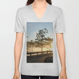 Sunrise over the lake Unisex V-Neck