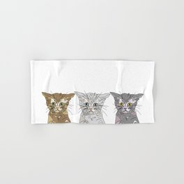 Triple Kitties Hand & Bath Towel