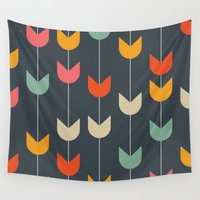 tulips Wall Tapestries featuring Tulips by Tracie Andrews