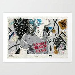 Lonely Hearts Club Art Print