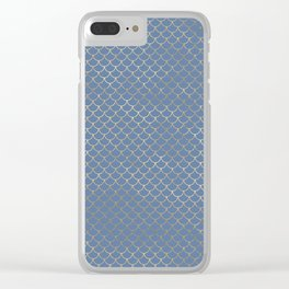Elegant Gold Scales Pattern Clear iPhone Case