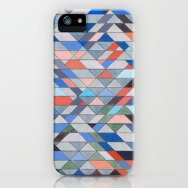 Triangle Pattern No. 7 Diagonals iPhone Case