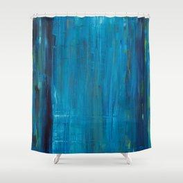 blue vertical Shower Curtain