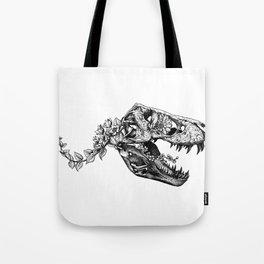 Jurassic Bloom - The Rex.  Tote Bag