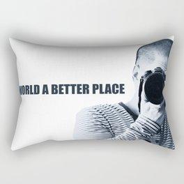Lets make the world a better place Rectangular Pillow