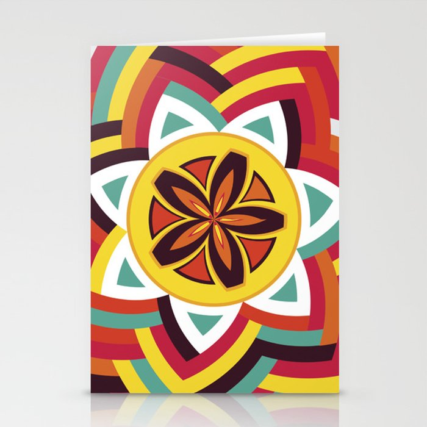 Mandala Love Pattern Stationery Cards