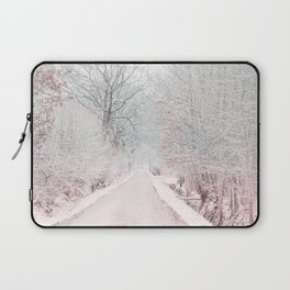 The Winter Road in the Suburb. Laptop Sleeve