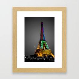 Couleur - Eiffel Tower Framed Art Print