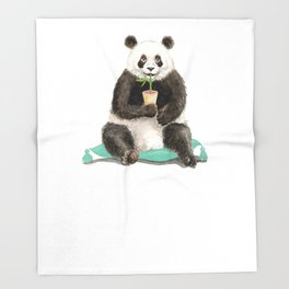 Panda - a Summer Bear 2014 Throw Blanket