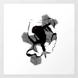 - dancing monster - Art Print