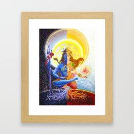 Shiva and Shakti Framed Art Print