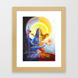Shiva and Shakti Framed Art Print