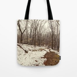 spring dusting of snow Tote Bag