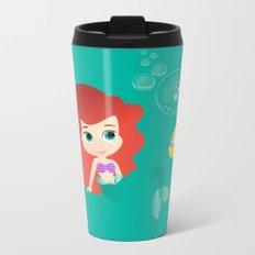 Baby Little Mermaid Metal Travel Mug