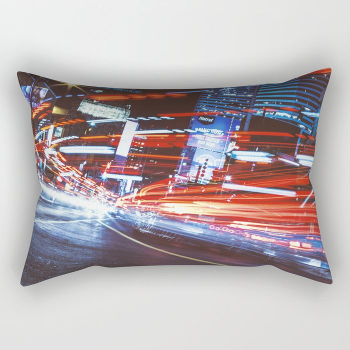 Light Trails on Yonge St. - Toronto Rectangular Pillow