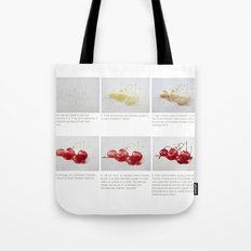 Watercolor Demo Cherries on a Cushion Tote Bag