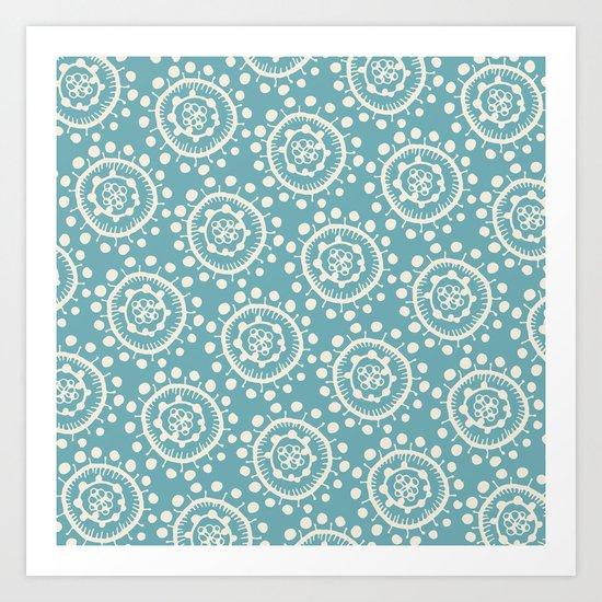 Wheels: Blue Art Print