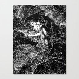 The Child Sleeps (B&W) Canvas Print