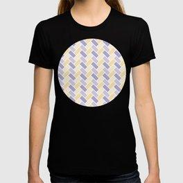 Purple & Yellow Herringbone Pattern T-shirt