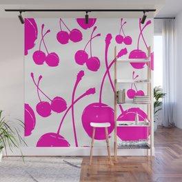 Pink neon Cherry Wall Mural
