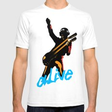 Daft Punk Mens Fitted Tee LARGE White